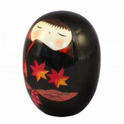 Japonská panenka Kokeshi Momiji Black