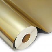 Filme poliéster ouro para impressão digital solvente e eco solvente bobina de 100 cm x 25 metros