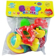OH BABY Multicolor Baby Rattle (Set Of 4) SE-ET-672