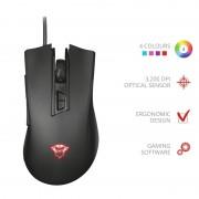 Mouse, TRUST GXT 121 Zeebo, Gaming, USB, Black (23091)