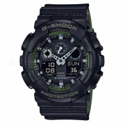 reloj digital analogico casio g-shock GA-100L-1A-negro + verde