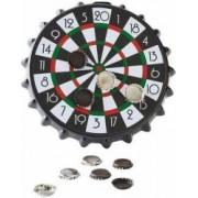 Joc Darts Magnetic Bottle Cap cu 10 capace magnetice 42 cm