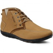 Red Chief Rust Men Low Ankle Outdoor Casual Leather Shoes (RC3514 022)