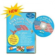 CD/FLASH CARDS USA STATE MAPS