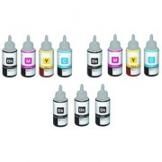 green compatible ink 2 sets with 3 pcs black free for epson l100/l200/l220/l210 ciss printers