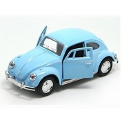 Berry President Classic 1967 Volkswagen Vw Classic Beetle Bug Vintage 1/32 Scale Diecast Metal Pull Back Car Model Toy For Gift/Kids (Sky Blue)