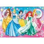 Puzzle Clementoni Cu Strasuri Disney Princess 104 Piese