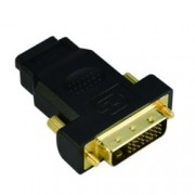 Преходник VCom, от DVI(м) към HDMI(ж), позлатени конектори, черен