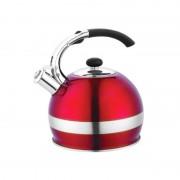 Ceainic inox cu fluier Bohmann, 2.7 l, Rosu