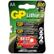 Gp Batteries Blister 4 Batterie Litio Stilo AA 1,5V/15LF Longest Lasting