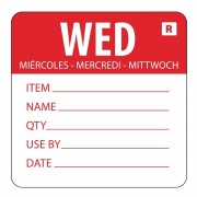 Vogue Removable Day of the Week Label Wednesday (Pack of 500)