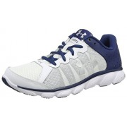 Under Armour Men's UA Micro G Assert 6 White, Blackout Navy and Metallic Silver Running Shoes - 7.5 UK/India (42 EU)