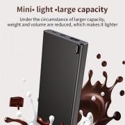 BASEUS Choc Power Bank [10000mAh Mini Light] [CE/FCC/RoHS] Type-C Micro 2-Input Battery Charger (BS-10KP103) for iPhone iPad Samsung - Black