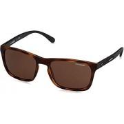 Arnette AN4236 Burnside anteojos de sol rectangulares para hombre, mate, Turquesa mate/Verde Espejo Azul claro, 56 mm