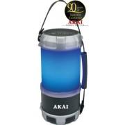Boxa Portabila felinar Akai ABTS-S38, cu Bluetooth, USB, FM radio, 16W (Negru/Gri)