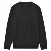vidaXL V-nyakú férfi pulóver fekete XL