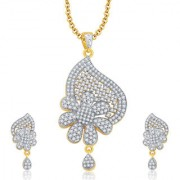 Sukkhi Ritzy Gold And Rhodium Plated CZ Pendant Set For Women