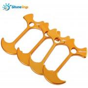 4pcs SHINETRIP Lightweight Tent Peg Rope Grip (Dorado)