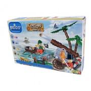 Set constructie Joc cu pirati cu 2 figurine Prico Ocean, 140 piese