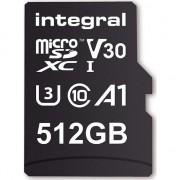 Card de memorie Integral 80V30 512GB Micro SDXC Clasa 10 UHS-I U3 + Adaptor SD