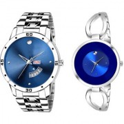 Fogg Metal Blue Date Dile With Blue Women metal Stylist Looking Analog Watch For Men And Women Watch