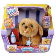 Jucarie de plus interactiva Moose Toys Little Live Pets Catel Snuggles