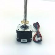 nema17 Schroef stappenmotor 17HS3401S-T8x8-300MM met Koperen moer lood 8mm voor CE ROSH ISO CNC Laser en 3D printer