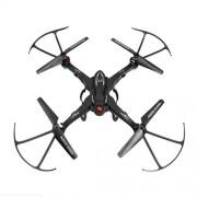 LHQ Drone con Cámara DIY Ensamblaje WiFi Control Remoto Avión De Cuatro Ejes UAV, Aleación ABS Y PEO Producción De Materiales, Desmontable, Fácil De Transportar, Negro, Rojo (Color : Negro)