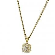 Pandant elegant din argint 925 placat cu aur si zirconii