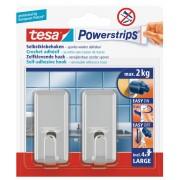 tesa SE tesa Powerstrips® Haken Large Classic, chrom