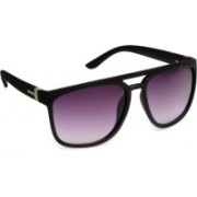 Olvin Over-sized Sunglasses(Violet)