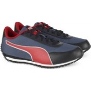Puma Blue/Red Suede Leather Running & Gym Sport Shoes Walking Shoes For Men(Multicolor)