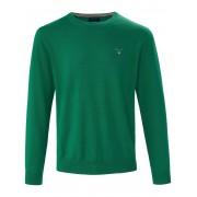 Gant Rundhals-Pullover GANT grün Herren 54 grün