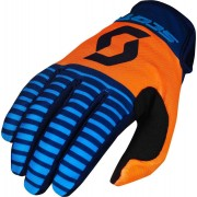 Scott 350 Track Motokrosové rukavice 2017 M Modrá Oranžová