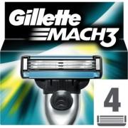 Gillette Mach 3 Spare Blades recarga de lâminas 4 un.