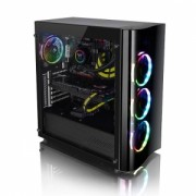 Carcasa Thermaltake View 22 Tempered Glass Black Window, SPCC Steel ATX Mid Tower