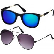 Freny Exim Aviator, Wayfarer Sunglasses(Blue, Violet)