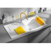 BLANCO SITY XL 6 S gránit mosogató - citrom tartozékok - VIU-S króm csaptelep szett - fehér