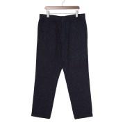 【68%OFF】シルク混 サルエルパンツ ネイビー 31 ファッション > メンズウエア~~パンツ