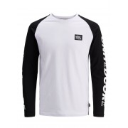 JACK & JONES Print Long-sleeved T-shirt Man White