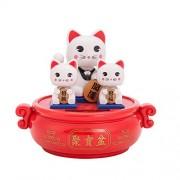 Solar Powered Bobblehead Toy Figure Nohohon, Lucky Cat 071