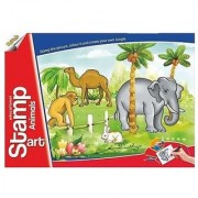 Ratna's Toyztrend Educational Art Craft Stamp Art Animals Big With 14 Different Animal Stamps For Kids Ages 4+