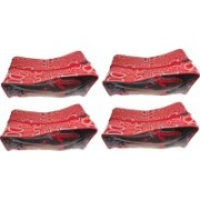 Afrose Pack of 4 Shoe Pouch Shoe Cover Shoe Kit(Red)