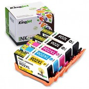 Kingjet Re-Manufactured Ink Cartridge Replacement for HP 902 902XL Work with OfficeJet Pro 6954 6960 6961 6962 6968 6974 6975 6978 Printers,1Set+1LBK