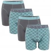 Vinnie-G boxershorts Mint Print - Grey 4-Pack-M