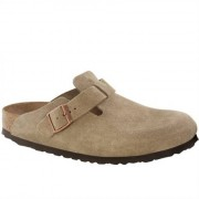 Birkenstock Boston Soft Footbed Suede Taupe