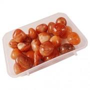 eshoppee 200 gm carnalian Stone Tumble 100% Natural Genuine Original Tumbled kit, Crystal Healing Gemstones (carnalian)