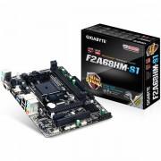 GIGABYTE Main Board Desktop AMD A68 SFM2,DDR3/VGA,USB3.0/USB2.0,SATA III,RAID,LAN mATX Retail GA-F2A68HM-S1