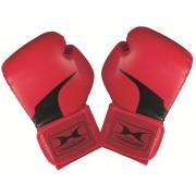 Premium piros bőr boxkesztyű