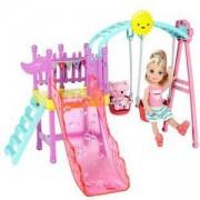 Барби игрален комплект - Мини кукла с пързалка, Barbie, 1710045-1